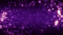 Purple Fashion Stars Background Stock Footage