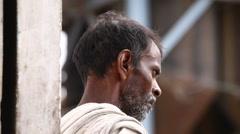 Closeup of poor Worker Stock Footage