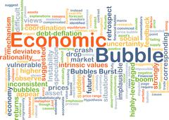 Economic bubble background concept - stock illustration