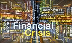 Financial crisis background concept glowing Stock Illustration