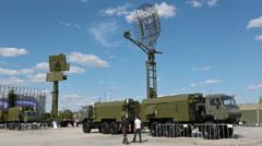 The turned on rotating radars - stock footage
