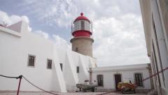 Cape St. Vincent houselight, Algarve Stock Footage