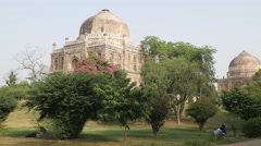 Monuments in Lodi gardens,New Delhi,India Stock Footage