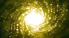 Golden Spiral Galaxy Background Stock Footage