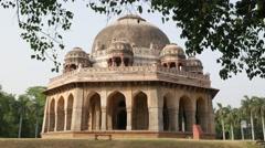 Monument in Lodi Gardens,New Delhi,India Stock Footage