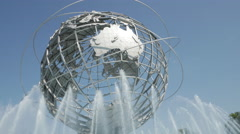 The Queens Unisphere and the Water Fountains 4K. Stock Footage