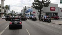 California Highway Patrol Felony Traffic Stop - stock footage