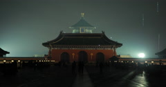 Video of the stunning Temple of Heaven in Beijing at night Stock Footage