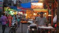 Kabab restaurants at Hazrat Nizam,New Delhi,India Stock Footage