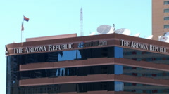 Stock Video Footage of Arizona Republic headquarters