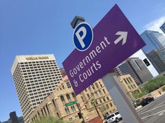 Downtown section of Phoenix, AZ Stock Photos