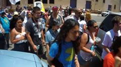 Immigration rights activists protest Sheriff Joe Arpaio Stock Footage
