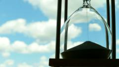 Hourglass Passing of Time Lapse Clouds Stock Footage