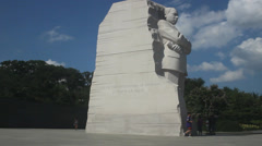 Martin Luther King Memorial in Washington DC Stock Footage