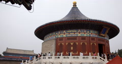 Video of the stunning Temple of Heaven in Beijing Stock Footage