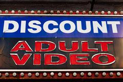 Discount Adult Video - stock photo