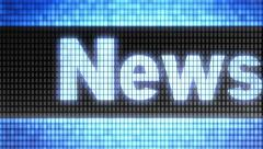 """""""News"""" on the screen. Looping. - stock footage"""