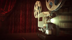 Retro Cinema - Front-side composition. - stock footage