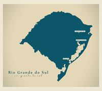 Modern Map - Rio Grande do Sul BR - stock illustration