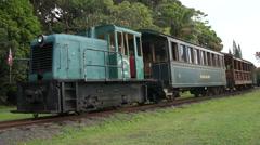 Kauai: Train at Kilohana Plantation Stock Footage