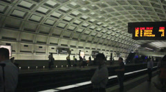 Metro Station in Washington DC - stock footage