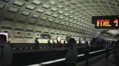 Metro Station in Washington DC Stock Footage