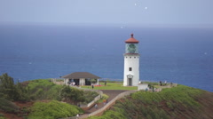 Kauai: Kilauea Light House Stock Footage