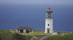Kauai: Kilauea Light House, Sea Cliff - stock footage