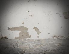 Grey deteriorated background - stock photo