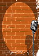Musical Event Poster Grunge - stock illustration