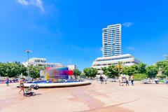 Dizengoff Square, Tel-Aviv Stock Photos