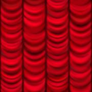 Red curtain background template. EPS 10 - stock illustration
