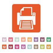 The printer icon. Printing symbol. Flat - stock illustration