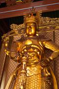 Skanda bodhisattva statue in Tian Wang Dian (Hall of Celestial king). Lian Sh Stock Photos