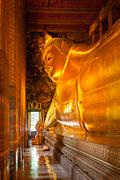 Reclining Buddha, Thailand - stock photo