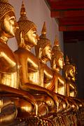 Sitting Buddha statues, Thailand Stock Photos