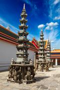 Buddhist temple Wat Pho. Bangkok, Thailand - stock photo