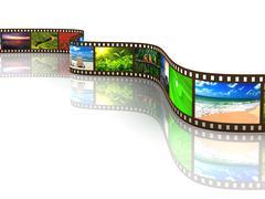 Photo film with reflection on white Stock Illustration