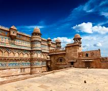 Stock Photo of Mughal architecture - Gwalior fort. Gwalior, Madhya Pradesh, India