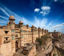 Stock Photo of Mughal architecture - Gwalior fort. Gwalior, Madhya Pradesh, India