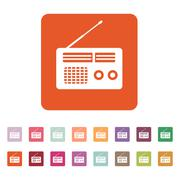 The receiver icon. Radio symbol. Flat Stock Illustration