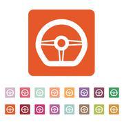 Stock Illustration of The steering wheel icon. Auto symbol. Flat