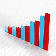 Commercial growth concept graph Stock Illustration