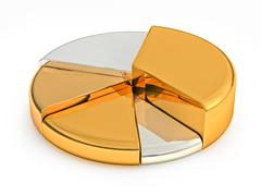 Stock Illustration of Pie chart made precious metals