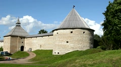 Old Ladoga Fortress. Protected By UNESCO. Stock Footage