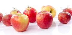 Fresh royal gala apples - stock photo