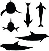 Stock Illustration of dolphin silhouette