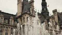 Hotel de Ville, Paris Stock Footage