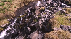 Iceland - Waterfall at Stöng Stock Footage