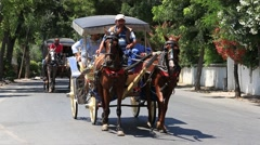 Stock Video Footage of Horse drawn carriages on Prince Island Buyukada . Istanbul, Turkey